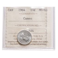 1964 Canada 10 Cent