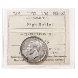 1952 Canada 25 Cent