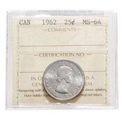 1962 Canada 25 Cent