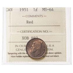 1951 Canada 1 Cent