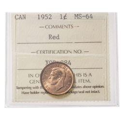 1952 Canada 1 Cent