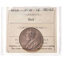 1936 Newfoundland 1 Cent