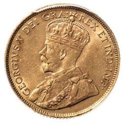 1914 Canada 5 Dollar Gold Coin