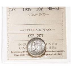 1939 Canada 10 Cent