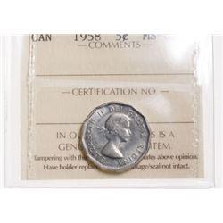1958 Canada 5 Cent