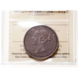 1872-H Newfoundland 50 Cent