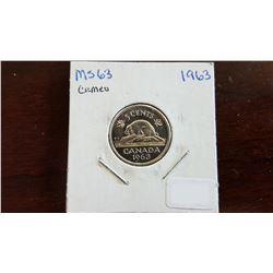 1963 Canada 5 Cent