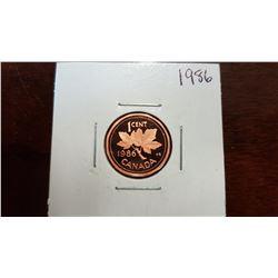1986 Canada 1 Cent