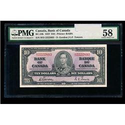 1937 Canada 10 Dollar Note