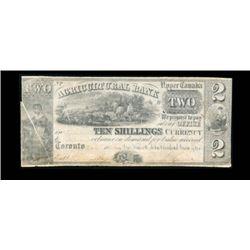 1836 Canada 2 Dollar ERROR NOTE
