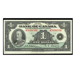 1935 Canada 1 Dollar ERROR NOTE