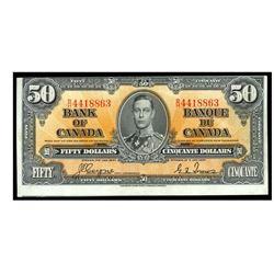 1937 Canada 50 Dollar ERROR NOTE