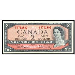 1954 Canada 2 Dollar ERROR NOTE