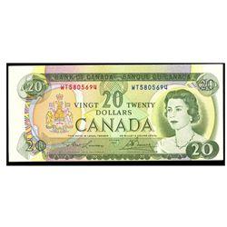 1969 Canada 20 Dollar ERROR NOTE