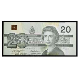 1991 Canada 20 Dollar ERROR NOTE