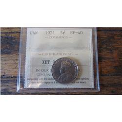 1931 Canada 5 Cent