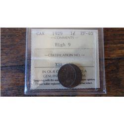 1929 Canada 1 Cent RARE VARIETY