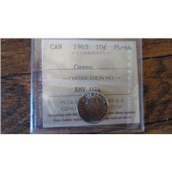 1963 Canada 10 Cent