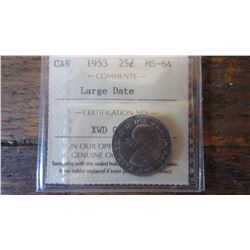 1953 Canada 25 Cent