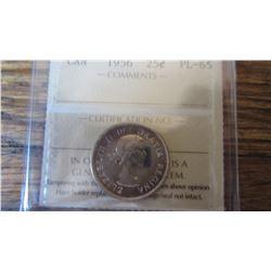 1956 Canada 25 Cent