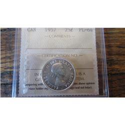 1957 Canada 25 Cent
