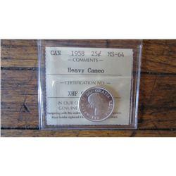 1958 Canada 25 Cent