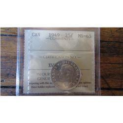 1949 Canada 25 Cent