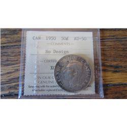 1950 Canada 50 Cent RARE VARIETY