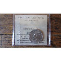 1929 Canada 25 Cent