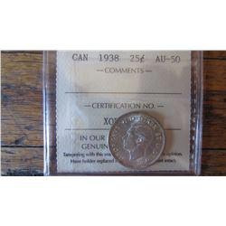 1938 Canada 25 Cent