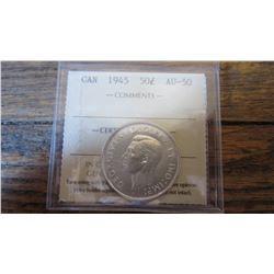 1945 Canada 50 Cent