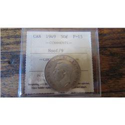 1949 Canada 50 Cent RARE VARIETY