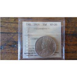 1916 Canada 50 Cent
