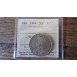 1929 Canada 50 Cent