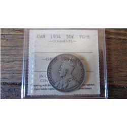 1934 Canada 50 Cent