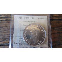 1939 Canada 1 Dollar