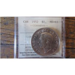 1952 Canada 1 Dollar