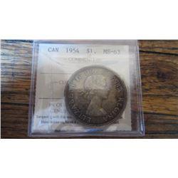 1954 Canada 1 Dollar