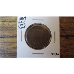 1854 USA Large Cent
