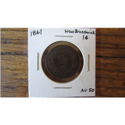 1861 New Brunswick 1 Cent
