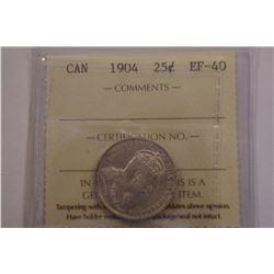 1904 Canada 25 Cent