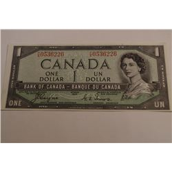 1954 Canada 1 Dollar Bank Note