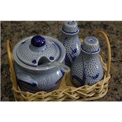 Sugar Bowl and Shaker Set