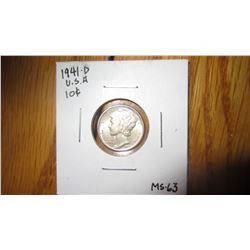 1941-D USA 10 Cent