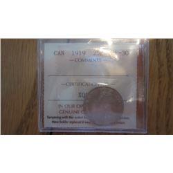 1919 Canada 25 Cent