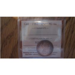 1963 Canada 25 Cent