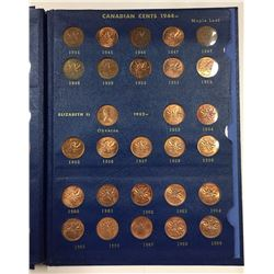 1920 to 1969 Canada Penny Set