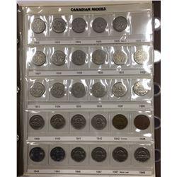 1922 to 2010 Canada Nickel Set