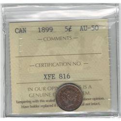 1899 Canada 5 Cent