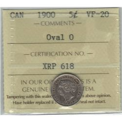 1900 Canada 5 Cent